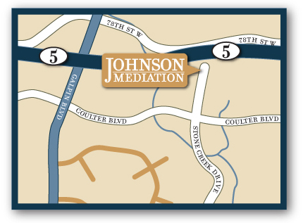 Map to Johnson Mediation, Chanhassan, MN