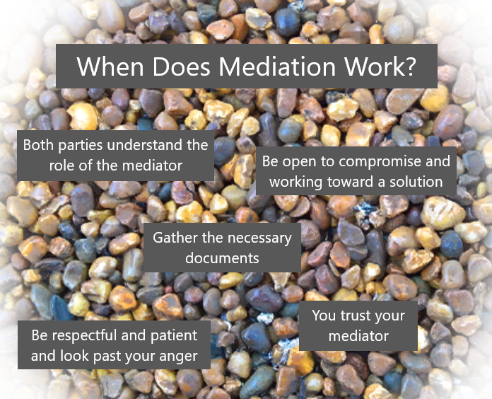 Helpful Tips to get Mediation to Work for You